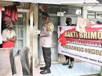 Kompi 2 Yon B Pelopor Satbrimob Polda Jabar Gelar Dapur Umum dan Bagikan Sembako