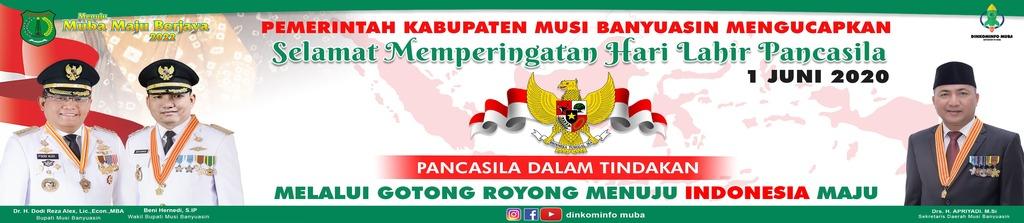 Pemkab Muba,Banner Pamkab Muba, Muba, Hari Kelahiran Pancasila